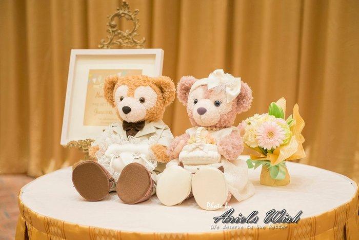 Ariel's Wish-日本東京迪士尼Duffy達菲熊Shelliemay雪莉玫情人節婚禮婚紗西裝衣服婚戒枕組-絕版品