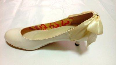 yahoo奇摩購物中心人氣流行女鞋『D+AF』白色圓頭低跟蝴蝶結女鞋