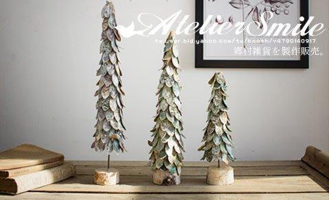 [ Atelier Smile ] 鄉村雜貨   森林系 手工木片製 聖誕樹 桌面擺飾 #中款40cm (現+預)