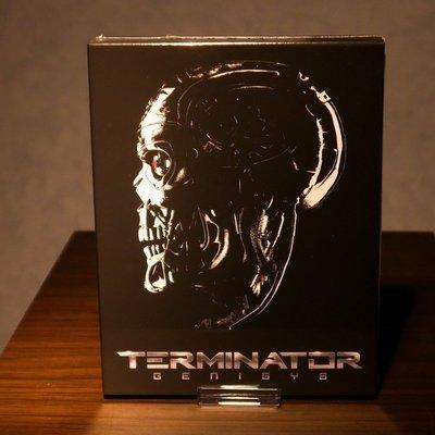 【BD藍光3D】魔鬼終結者 創世契機3D+2D三碟外紙盒幻彩限量鐵盒版(B款)Terminator(台灣繁中字幕)