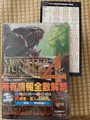 (便宜賣~)保存極新3DS魔物獵人4中文攻略 Monster Hunter 4 青文 贈附表+贈鬼武者攻略PS2 PS4