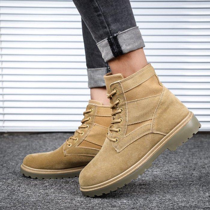 【熱賣好物】馬丁靴防滑秋季新款男士男鞋高幫帆布工裝鞋戰狼馬丁靴休閒風
