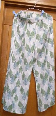 最新韓風優雅綠雪紡透心涼長褲,搭牛仔,正式外套都超級好看