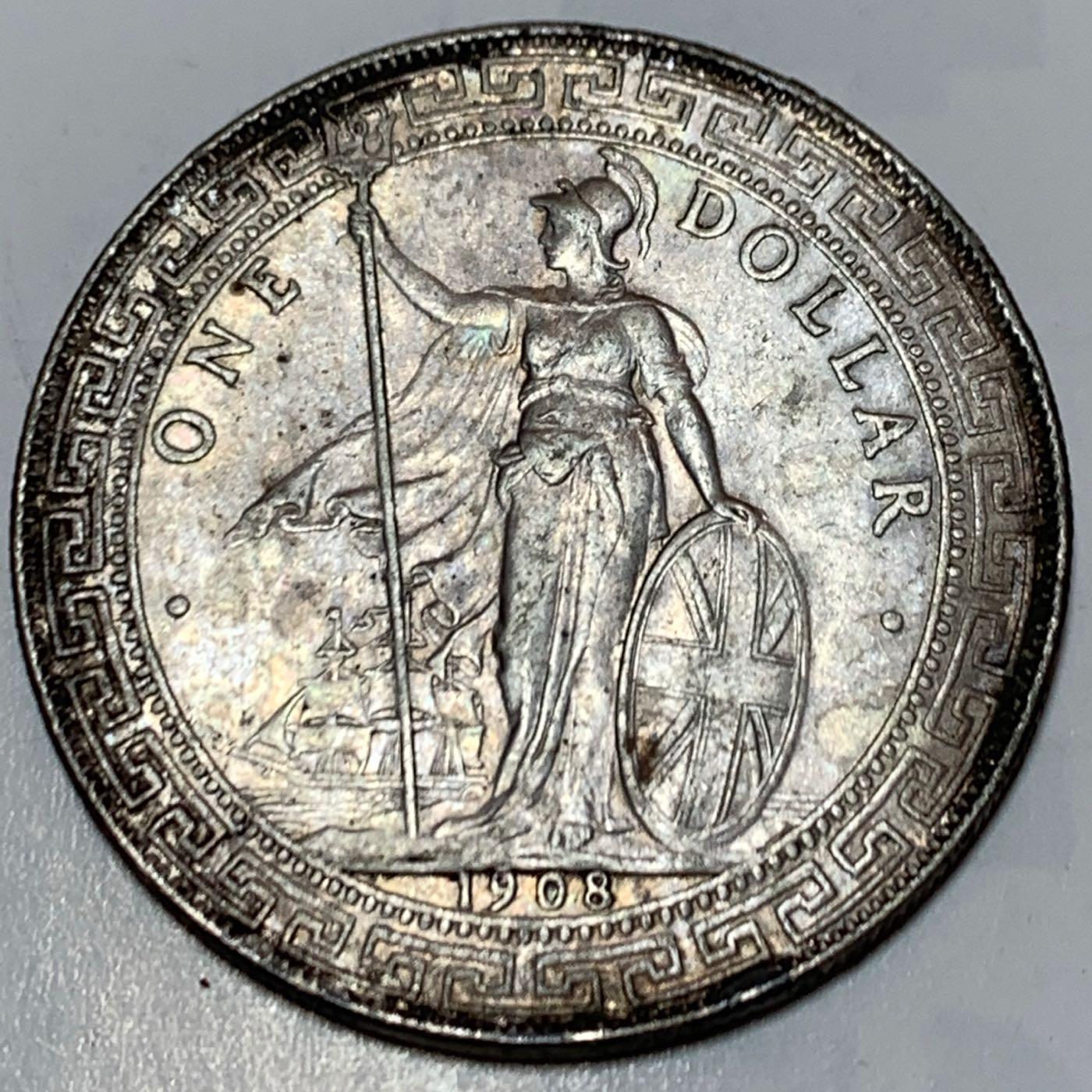 香港貿易銀1908年站洋