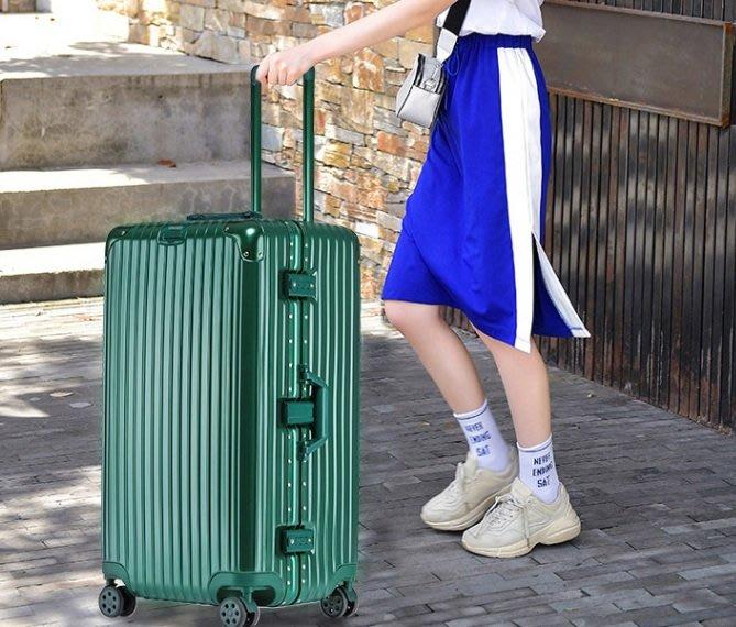 24吋運動版行李箱 大容量 鋁框 拉桿箱 萬向輪 磨砂面加厚旅行箱 (不送小贈品, 價格直接優惠)