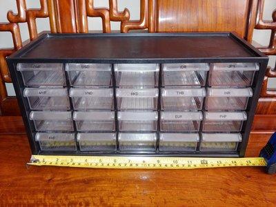 多層膠抽櫃式儲幣盒