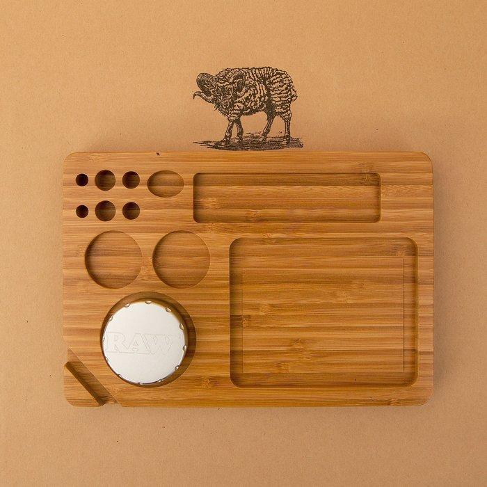 黑羊選物 單層捲菸盤 類RAW木盤 實木製作 捲菸盤 可放置研磨器 質感小物 捲菸 菸草 raw 煙斗 paper