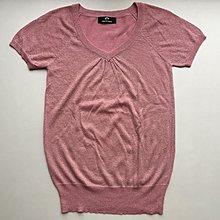 WEALTH HONOR 粉色微金蔥V領針織上衣