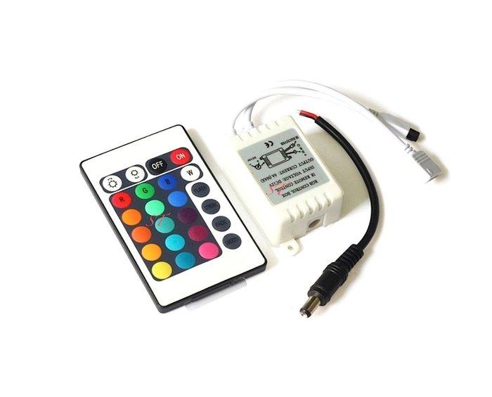 『 5050 RGB 24鍵控制器 』七彩變色 閃爍 條燈 燈條 24鍵控制器
