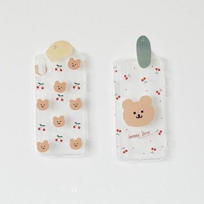 獨家可愛Gummy櫻桃小熊🍒韓國iphone11xsmax7plus8透明6s手機殼ig軟殼