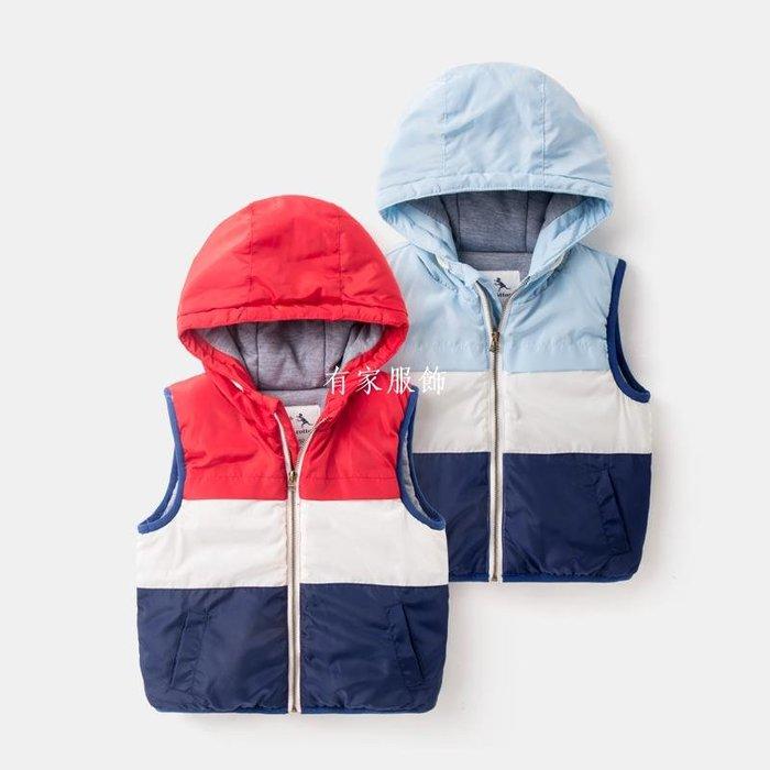 有家服飾背心馬甲3男童冬季棉馬甲2019新款冬裝加厚外套4小童拉錬