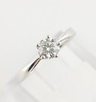 (可缐上無息分期刷卡)鑽石戒指 主石0.40克拉  18K白金   國際戒圍8.5號/可修改 八心八箭