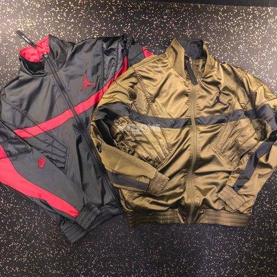 [歐鉉]NIKE JORDAN 立領 夾克 運動外套 男生 黑紅 AR3131-010 軍綠 AR3131-395