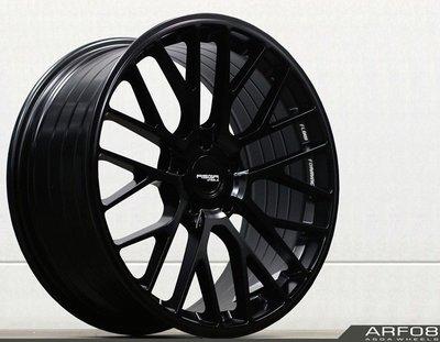 全新 ASGA ARF08 19吋旋壓鋁圈 平光黑 5孔114.3 5孔112 *完工價*