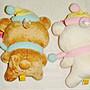 日本 SAN-X 懶懶熊 懶熊妹 圍巾款 吊飾(二個一組)