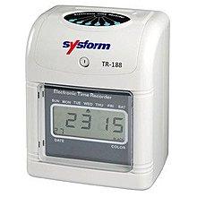 *福利舍* SYSFORM TR-188 微電腦打卡鐘(六欄位) ,特價3500元(含稅),請先詢問庫存
