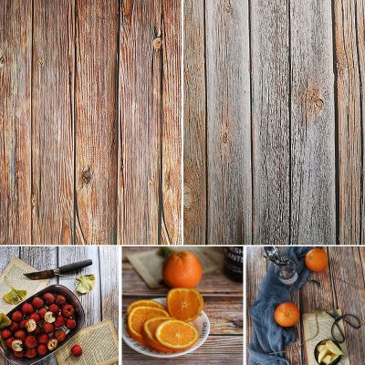防水攝影佈景-原木風原石背景 拍攝背景 桌巾 拍照背景 壁紙 拍照布景拍照道具木板雙面水泥紋55*83cm1入180元