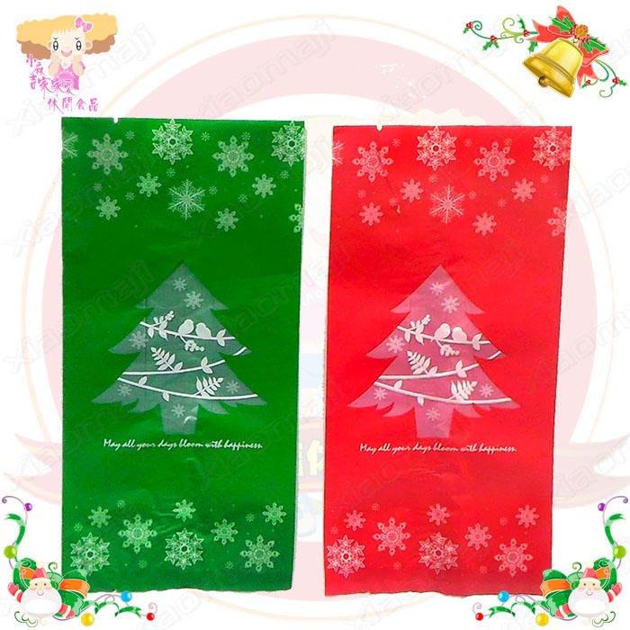 ☆小麻吉家家愛☆聖誕平口立袋(紅/綠)10個1包特價39元 聖誕節糖果袋 禮品袋 造型塑膠袋