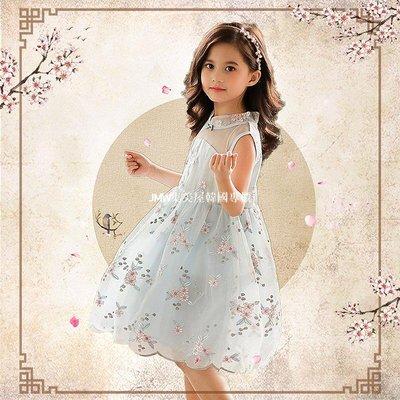 JMW集美屋韓國專櫃女童裙子夏裝中國風小女孩公主裙洋氣2019新款兒童漢服連衣裙韓版