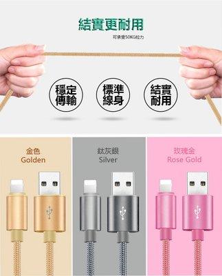 裸裝特價  iPhone(IOS) 安卓Micro Type-C 合金編織粗尼龍數據線 2.4A極速快充線 1米 桃園市