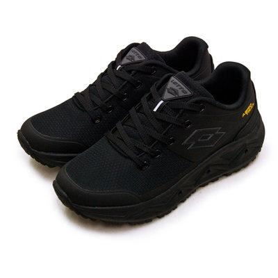利卡夢鞋園–LOTTO 專業郊山戶外透氣越野跑鞋--AERO TRAIL系列--黑灰--3600--男