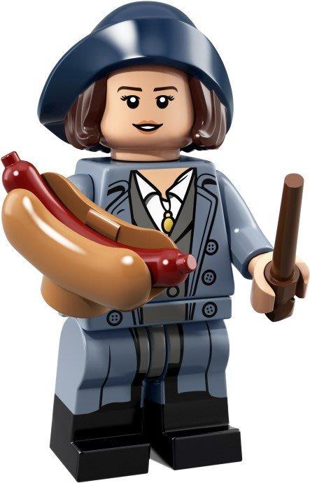 現貨【LEGO 樂高】積木 / 人偶包系列 哈利波特 71022 | #18 蒂娜 + 熱狗麵包 + 魔法棒