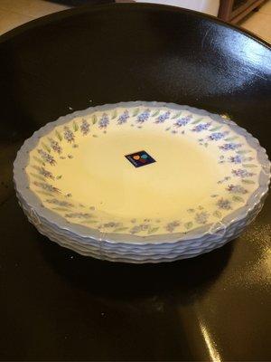 法國 arcopal康寧/白骨瓷圓形餐盤一套六個/可當贈品很超值/絕版花色/限量出清單一個300元/量多可優惠