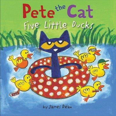 *小貝比的家*PETE THE CAT FIVE LITTLE DUCKS /精裝書/3~6歲/ Pete Cat