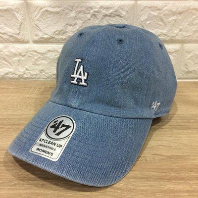 [今天不洗頭?]47 Brand LA 道奇小logo 老帽 棒球帽 白色 丹寧色