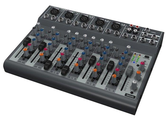 《民風樂府》Behringer 耳朵牌 XENYX 1002B MIXER 混音器 可裝電池
