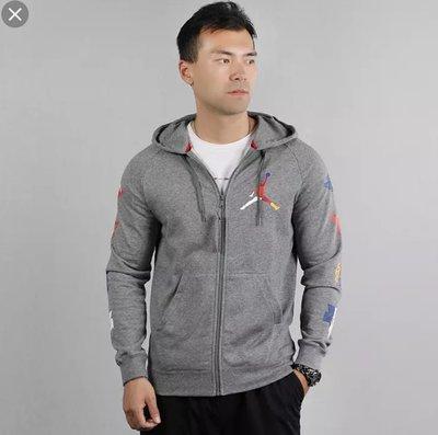 =E.P=Nike AS M J RIVALS LOOPBACK FZ 休閒外套 男款 灰彩虹  CJ7880091