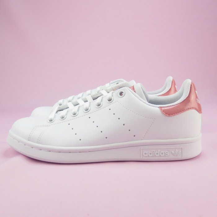 【iSport愛運動】代購正韓品 ADIDAS STAN SMITH J 休閒鞋 女款 CG6426 白色 粉尾