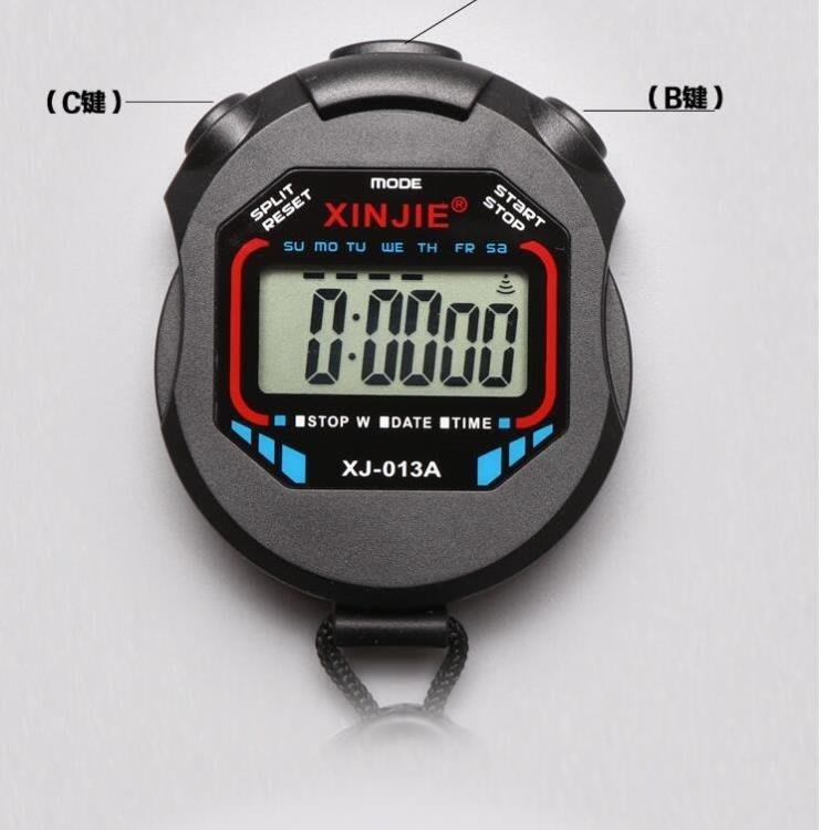 碼錶計時器裁判比賽田徑跑步訓練運動健身單排2道電子碼錶BLBH