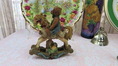 紫丁香歐陸古物雜貨♥ 英國vintage Regency 小熊木馬擺飾