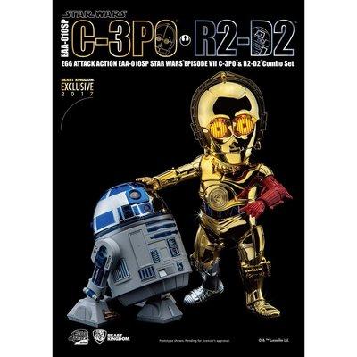正版 EAA-010SP 星際大戰 : 原力覺醒 C-3PO & R2-D2 電鍍雙入組
