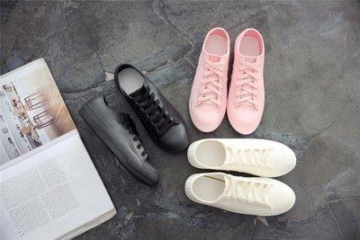 雨鞋女低筒時尚韓版雨靴學生防滑短筒水鞋平底淺口防水鞋膠鞋   全館免運