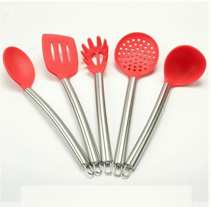 廚房料理工具6件組湯勺麵勺漏勺拌匙煎頭收納筒【 蘇菲亞精品傢飾】