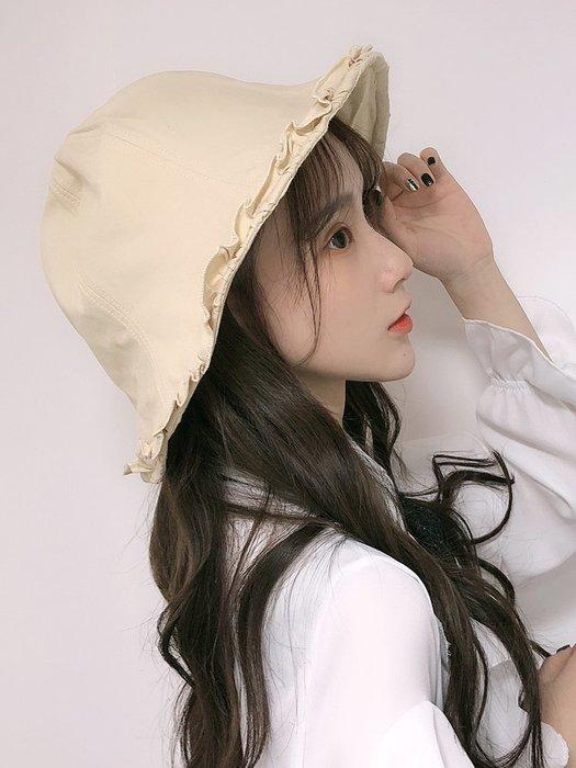 創意 服飾周邊漁夫帽女春夏日系百搭學生遮陽防曬盆帽休閑時尚潮流甜美可愛帽子