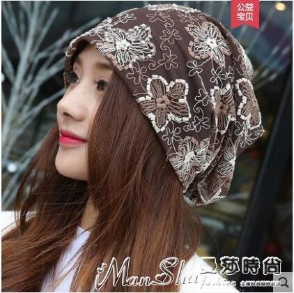 頭巾帽女韓版頭巾帽薄款包頭帽休閒套頭帽夏天透氣化療帽孕婦月子帽