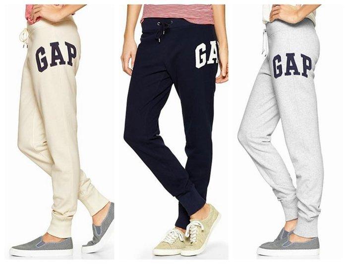 【BJGO】GAP_女裝_Arch logo slim sweat 美國GAP-Logo貼布繡休閒運動長褲 現貨
