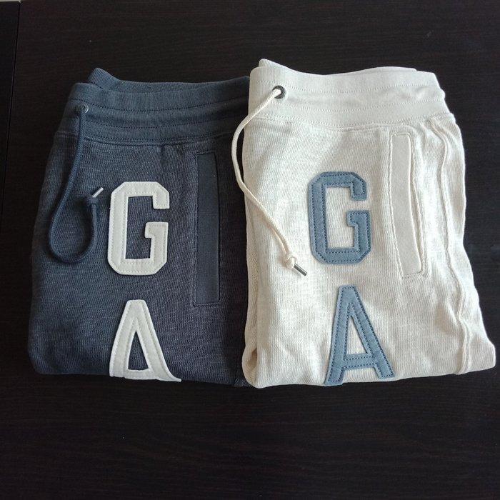 【BJGO】GAP_女裝_Arch logo slim sweat 美國GAP-Logo貼布繡休閒七分褲 現貨