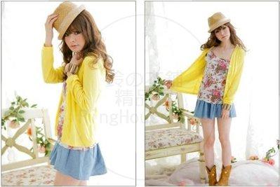 ✪ RingHouseShop ✪ 春夏繽紛甜美日系 氣質V領 排釦薄外套 3 色