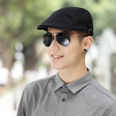 貝雷帽 帽子男夏季貝雷帽休閒百搭鴨舌帽韓版時尚青年前進帽潮防曬帽男帽