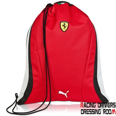 ♚賽車手的試衣間♚ Scuderia Ferrari 2015 GYM SACK RED 運動 背包 提袋 健身房