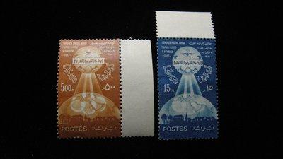 【大三元】歐洲郵票- 利比亞-科技-新票2枚-原膠