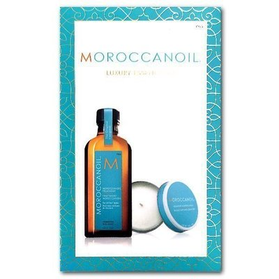 *QR條碼完整,未刮除*MOROCCANOIL 摩洛哥優油125ml一般型,附壓頭 +40g香氛蠟燭禮盒