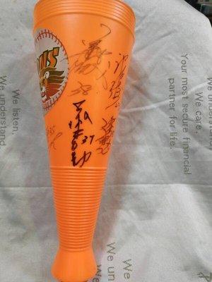 中華職棒獅迷絕佳收藏 統一獅職棒17年 8名球員簽名加油棒 曾翊誠許聖杰曹竣揚羅國璋張志強鄭博壬涂壯勳蔡士勤