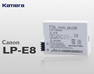 @佳鑫相機@(全新品)佳美能 Kamera 副廠電池 LP-E8 LPE8 for Canon 550D, 600D, 650D, 700D