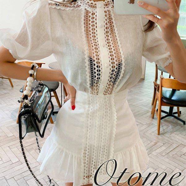 Otome.shop 正韓國空運 燒花鏤空設計短裙/褲裙【9JUN-26849991】