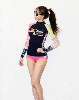 Qmi 韓國潛水服浮潛服健身沖浪速幹長袖防曬泳衣